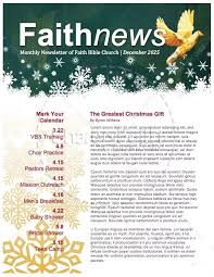 5 Free Christmas Newsletter Templates For Church Christmas