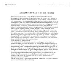animal cruelty leads to human violence gcse english marked by document image preview