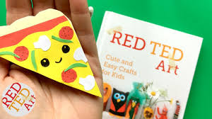 easy pizza bookmark corner diy kawaii bookmark diys paper crafts red ted art