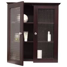 windham wall cabinet with two glass doors by elegant home fashions bathroom storage wall cabinets