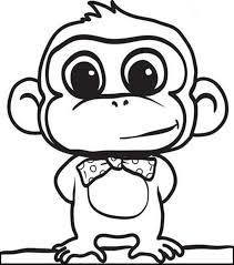 Small Picture Coloring Pages Animals Capuchin Monkey Coloring Page Monkey