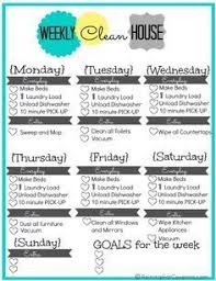 Free Printable Weekly House Cleaning List Cleaning Tips Weekly
