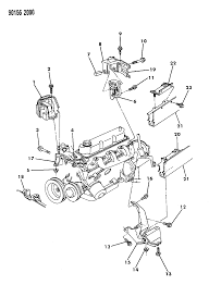1990 chrysler town country engine mounting diagram 000005l1