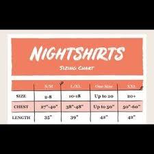 Lazy One Size Chart Lazy One Nightshirt Sleepwear Pink Moose Pjs Nwt