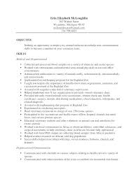 Veterinary Receptionist Resume Inspiration Veterinary Assistant Resume Examples Vet Tech Resume Samples
