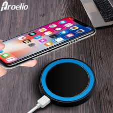 Us 159 20 Offproelio Mini Qi Wireless Charger Usb Charge Pad Charging For Iphone X 8 8 Plus Samsung Galaxy S6 S7 Edge S8 Plus Note 5 8 Nokia In