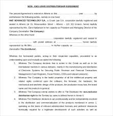 Distribution Agreement Template 15 Free Word Pdf Documents