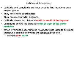 Ppt Latitude Longitude Powerpoint Presentation Id 2703422