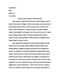 of darkness essay topics heart of darkness essay topics