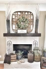 wreath wreath above fireplace