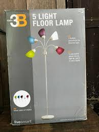 Studio 3btm 5 Light Floor Lamp Nib Studio 3b 5 Light Floor Lamp Colored Shades 4 Way Switch Flexible Dorm Teen