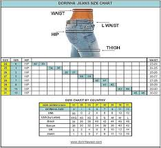 Flying Monkey Jeans Size Conversion Chart Pertaining To Jean