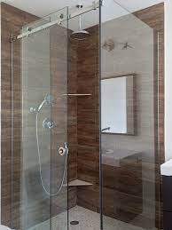 door frameless corner sliding shower glass enclosure with two fixed panels and one movable panel in the
