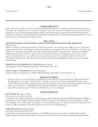 Graduate School Resume Objective Statement Examples