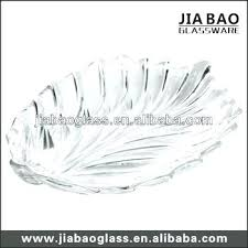 decorative glass tray clear leaf shape plates round serving platter decorativ
