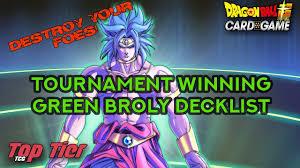 tournament winning green broly decklist dragon ball super card game