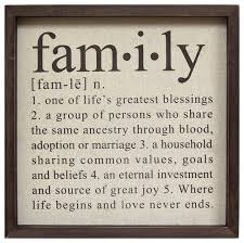 family definition wall decor contemporary novelty signs by