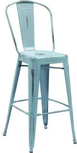 distressed metal furniture. Lansing Distressed Metal Indoor/Outdoor Bar Stool, Dream Blue Furniture B