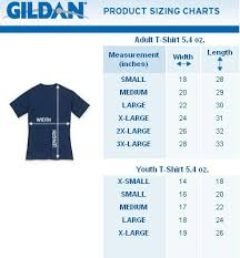 Gildan 50 50 Size Chart 46 Correct Gildan Sizes Youth Chart