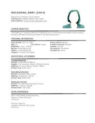 Sample Simple Resume Adorable Examples Of Resumes For A Job Examples Resume Job A Sample Of For
