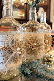 15 Wine Bottle Crafts Ideas For The Collector In YouWine Bottle Christmas Crafts