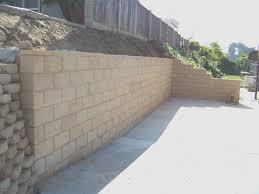 concrete retaining wall ideas cement landscape design for concrete block walls design