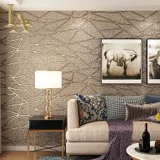 high quality thick flocked modern geometry 3d wallpaper for walls decor home wall paper rolls for