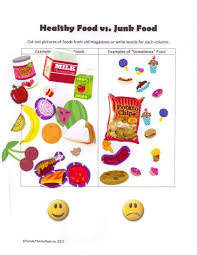 Healthy Vs Unhealthy Food Chart Healthy Food Vs Junk Food Chart Use Stickers Or Magazine