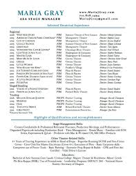Stagehand Resume Examples stage manager resume Colesthecolossusco 14