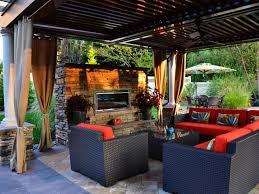 Outdoor Living Room Outdoor Living Room With Fireplace Ceramic Flooring Grey Accen