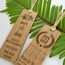 bookmark save the date wooden laser cut bookmark personalized favors