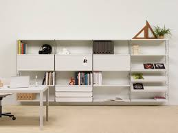office wall shelving units. Furniture White Wooden Wall Mounted Shelves With Drawers And Office Shelving Units I