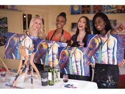 wine and painting nj new glen rock business encourages people to paint with friends