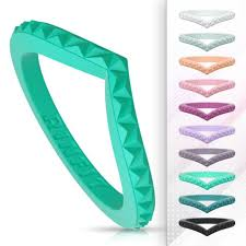 Unique Stackable Silicone Wedding Rings Wedding Bands For Women 2 Ring Pack