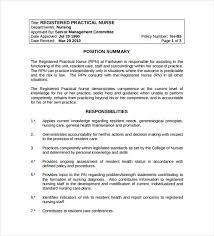 10+ Registered Nurse Job Description Templates - Free Sample ...