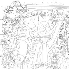 Rick And Morty Kleurplaat Printable Rick And Morty Coloring Pages