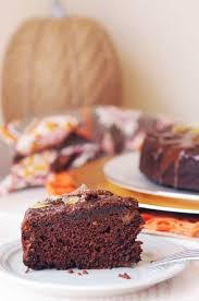 Pumpkin Chocolate Cake With Ginger Fried Dandelions Plant Based