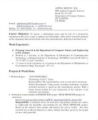 Sample Resume For Computer Engineering Students Best Of Sample Resume For Computer Science Fresh Graduate Combined With