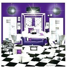 Black Room Ideas Purple Black Living Room Purple And Black Room The Purple  Black And White