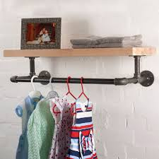 wall mounted hanging clothes rack