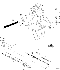 Transom plate and shift cable