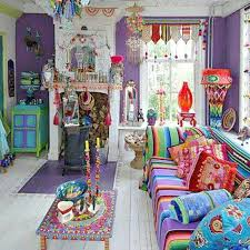 mexican boho bohemian living room