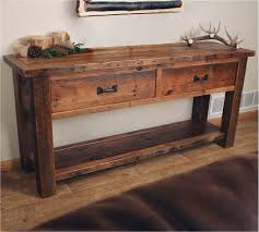 sofa table. Interesting Sofa Sofa Tables Elegant Old Sawmill Timber Frame Sofa Table With Drawers To U