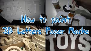 diy how to paint 3d letters standee paper mache for weddings birthdays or corporate events you