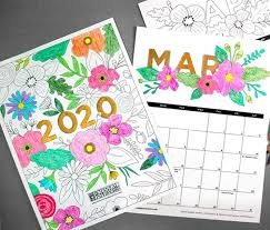 After years of doing different diy calendars here on damask love, i wanted to bring you a free printable calendar that you can. 20 Free Printable 2020 Calendars Lovely Planner