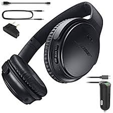 bose 759944 0010. bose quietcomfort 35 (series i) bluetooth wireless noise cancelling headphones - black \u0026 car 759944 0010