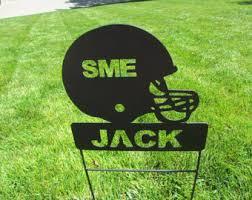 Decorative Metal Yard Signs Football yard signs Etsy 60