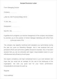 Employee Promotion Announcement Template Adorable Employee Promotion Letter Sample To Employer Oceanirmco