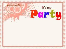 Birthday Invitation Layouts Birthday Invitation Layout Free Vector