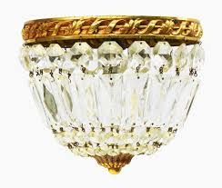 french crystal bag chandelier flush mount ceiling light or pendant